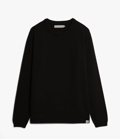 Unisex <br/>MW.RC merino wool relaxed crew pullover <br/>deep black