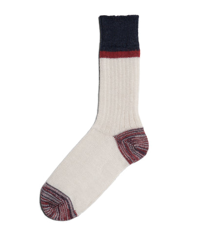 Unisex <br/>S73 new wool socks striped <br/>nature-dark red