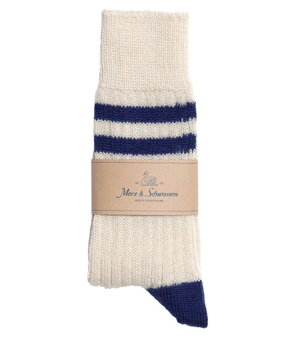 S75 new wool socks striped<br/>nature electric blue