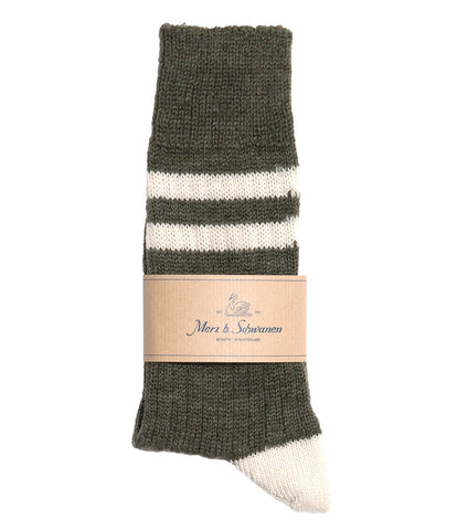 S75 new wool socks striped<br/>army nature