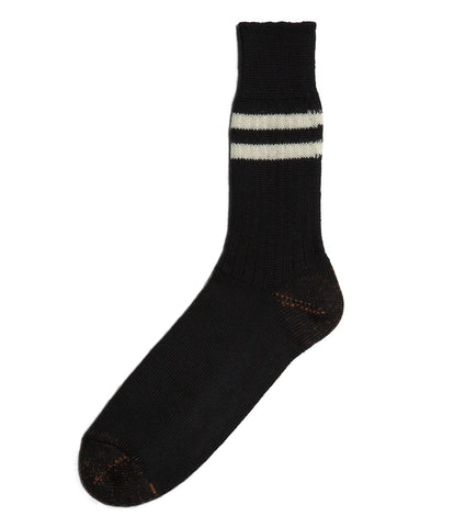 Unisex <br/>S75 new wool socks striped <br/>black-nature
