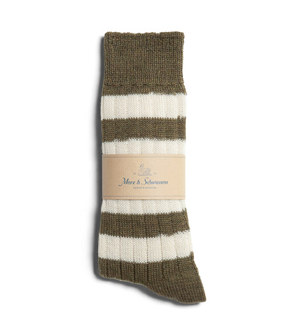 Unisex <br/>S76 new wool socks striped <br/>army-nature