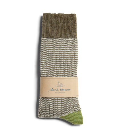 Unisex <br/>S78 new wool socks striped <br/>army-nature