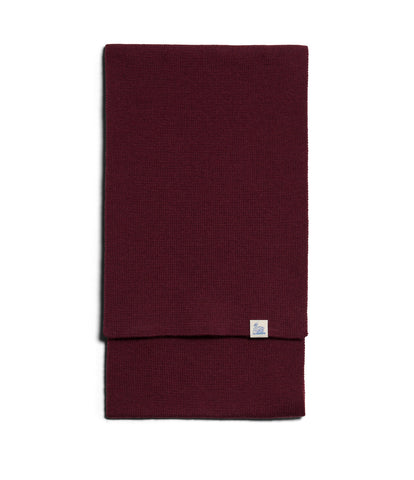 Unisex <br/>MW.SC merino knitted scarf <br/>red oak