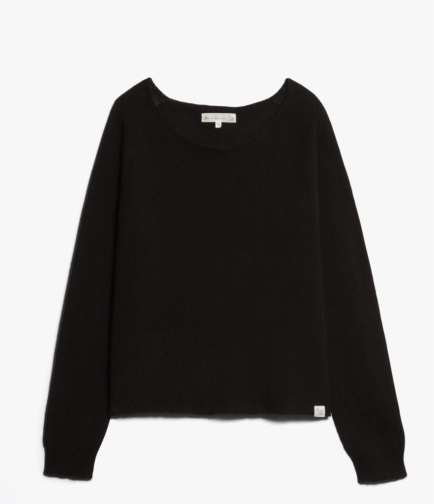 Women's <br/>SK.CN01 crew-neck pullover <br/>deep black