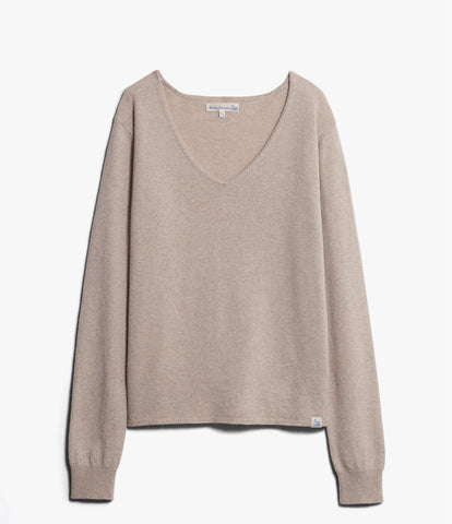 Women's <br/>SK.VN01 V-neck pullover <br/>nature mel.