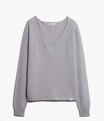 Women's <br/>SK.VN01 V-neck pullover <br/>grey mel.