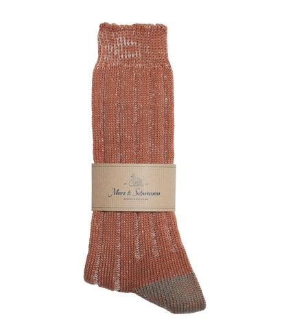 Unisex <br/>W72 merino wool socks <br/>rust-nature mel.