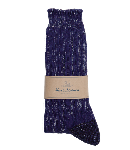 Unisex <br/>W72 merino wool socks <br/>electric blue nature mel.