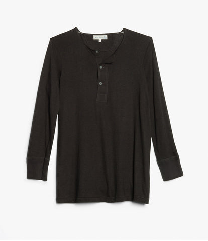 101 button border shirt 7/8 sleeve<br/>charcoal
