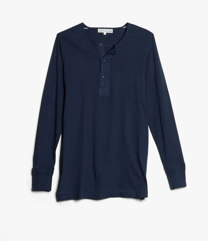 102 button border shirt long sleeve<br/>ink blue