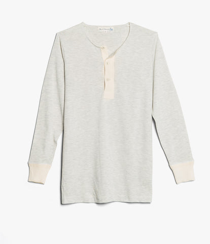 102 button border shirt long sleeve<br/>grey mel.