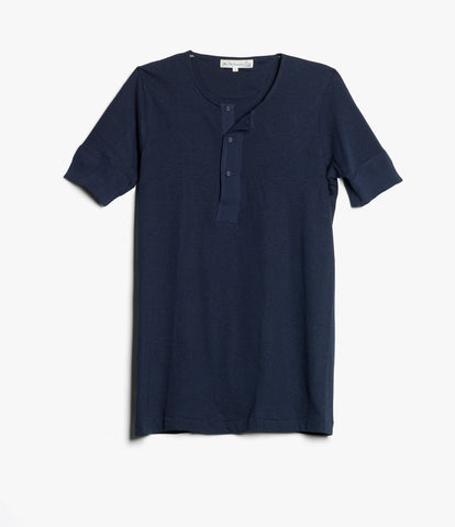 103 henley short sleeve<br/>ink blue