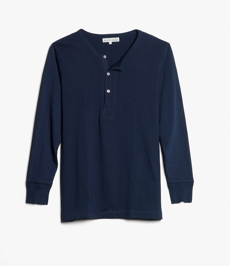 Men's <br/>206 henley long sleeve <br/>ink blue