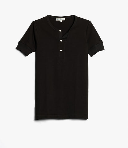 207 henley short sleeve<br/>deep black