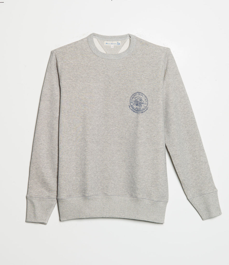 Men's <br/>344 crew-neck sweatshirt eskimo <br/>grey mel.