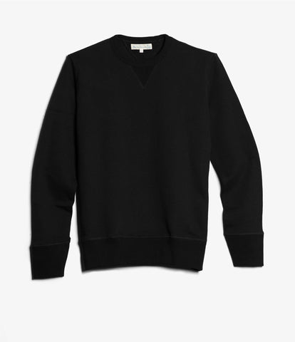 Men's <br/>346 crew-neck sweatshirt <br/>deep black