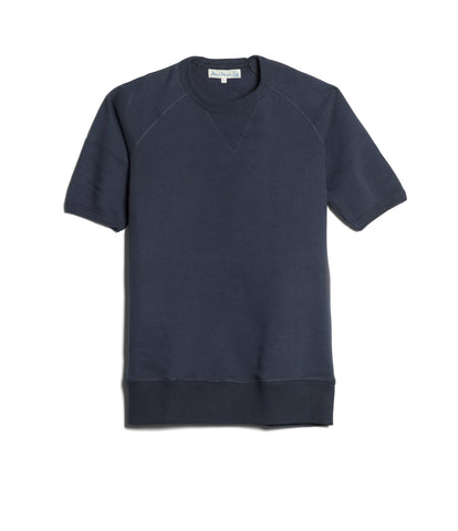 Men's<br/>347 crew-neck sweatshirt sh. slv.<br/>navy