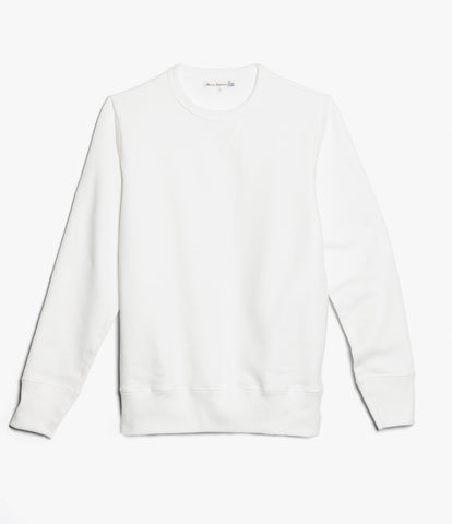 3S48 crew-neck sweatshirt heavy<br/>white