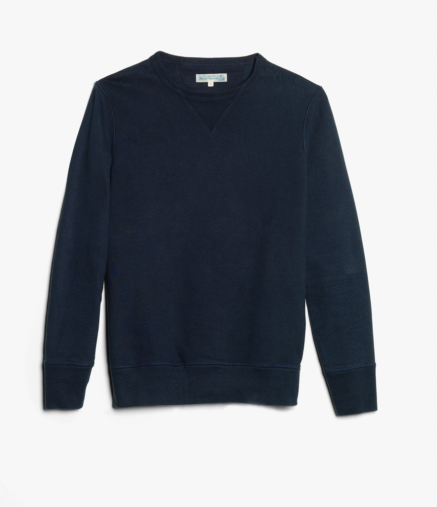 Men's <br/>3S48 crew-neck sweatshirt heavy <br/>ink blue