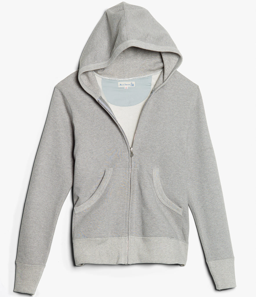 3S80 hooded zip jacket<br/>grey mel.