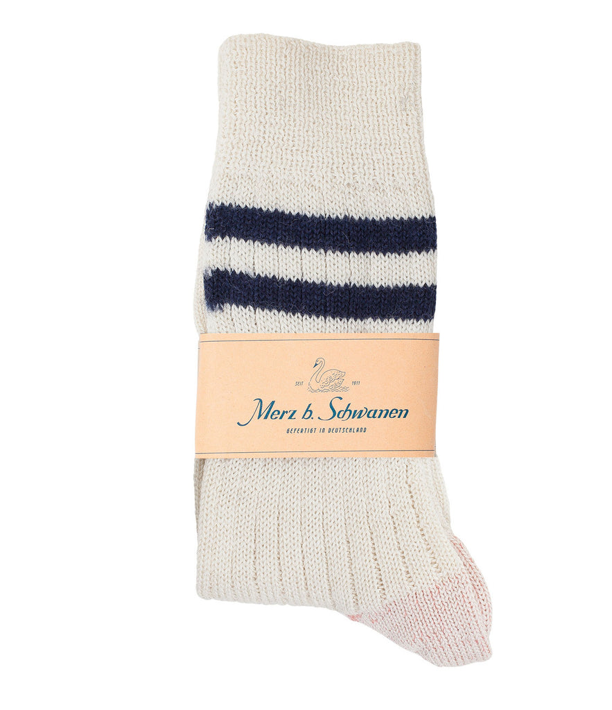 S75 new wool socks striped<br/>nature-ink