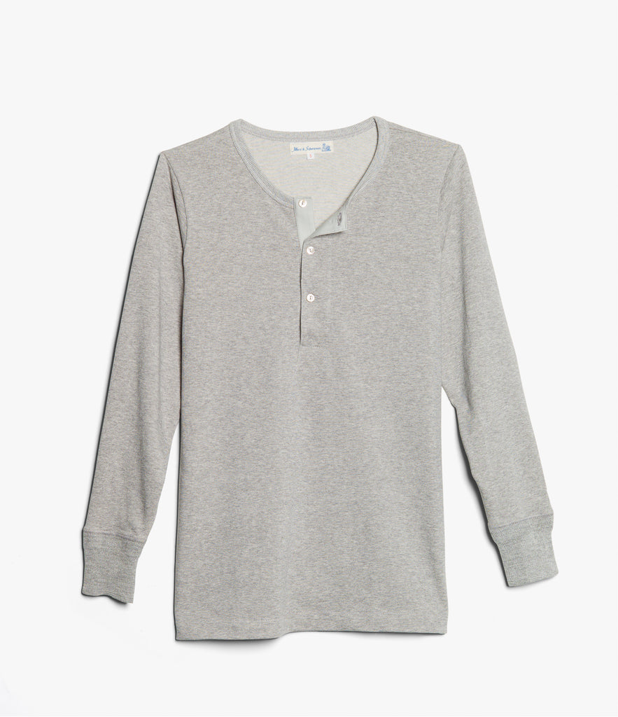 Men's <br/>206 henley long sleeve <br/>grey mel.