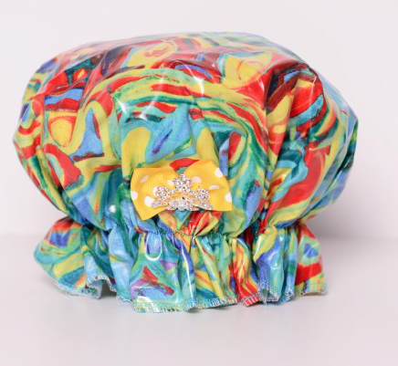Save The Do™ Multicolored Rainbow Shower Cap