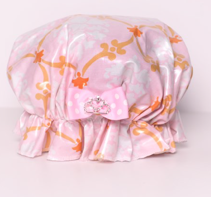 Save The Do™ Pink Vine Shower Cap