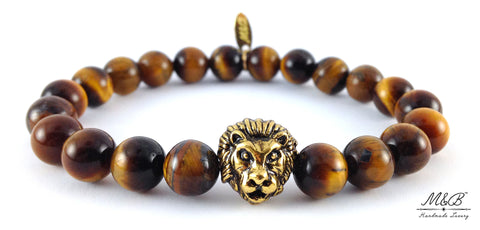 Zion Tigers Eye M&B Lion Bracelet