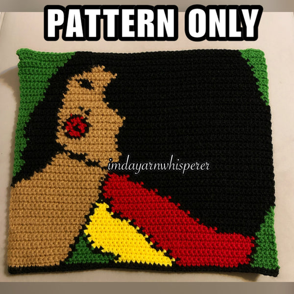 Rasta Hair Girl Throw Pillow PATTERN