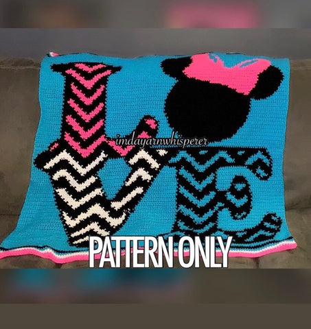 Love Minnie Baby Blanket Pattern