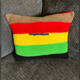 Love Africa Letters Throw Pillow (Rasta Colors)