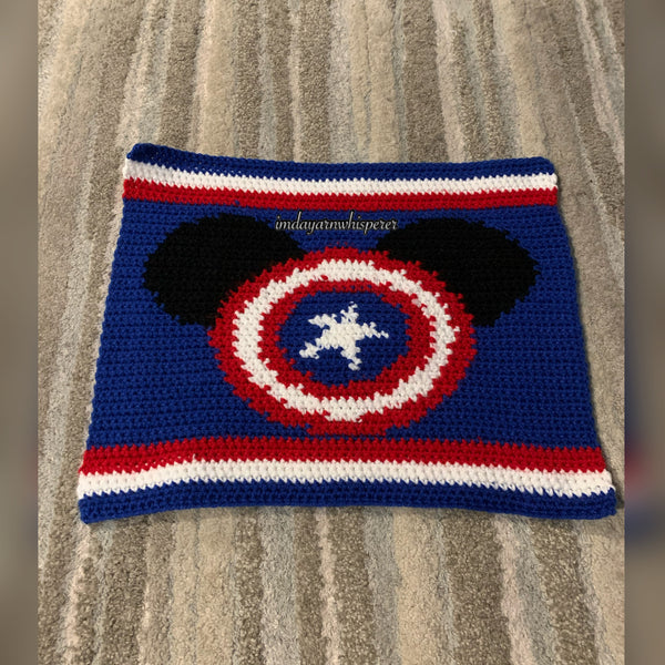Captain Mickey Throw Pillow Pattern