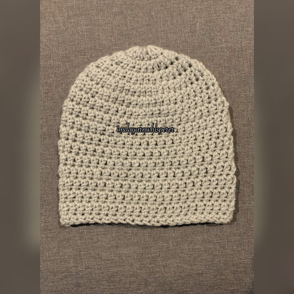 Light Grey Adult Beanie (Unisex)