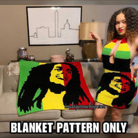 Bob Marley Throw Blanket Pattern