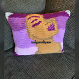 Audrey Throw Pillow Pattern (Shades of Purple)