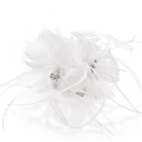 Feather floral fascinator style #HA1013-76 - in stock