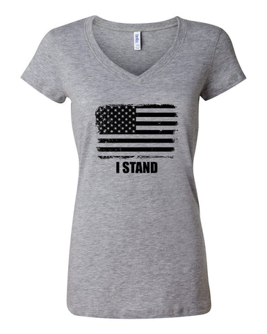 I Stand - Ladies V-Neck Tee