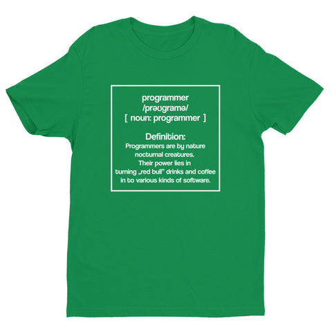 Definition of a Programmer - Short sleeve men's t-shirt