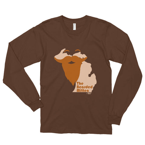 The Bearded U.P. - Long sleeve t-shirt (unisex)