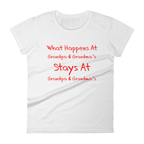 What Happens at Grandparents... - Women's short sleeve t-shirt