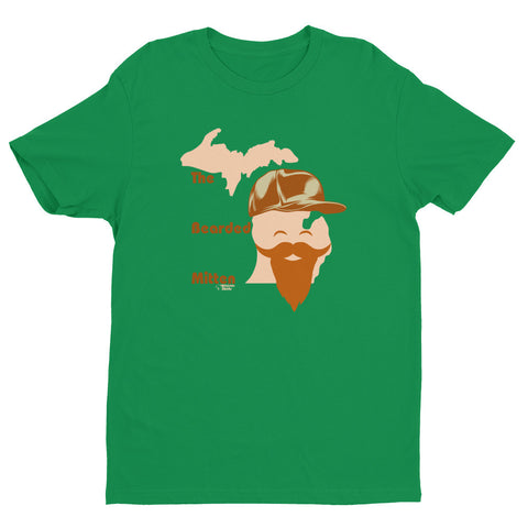 The Bearded Lower Peninsula - Short sleeve men's t-shirt