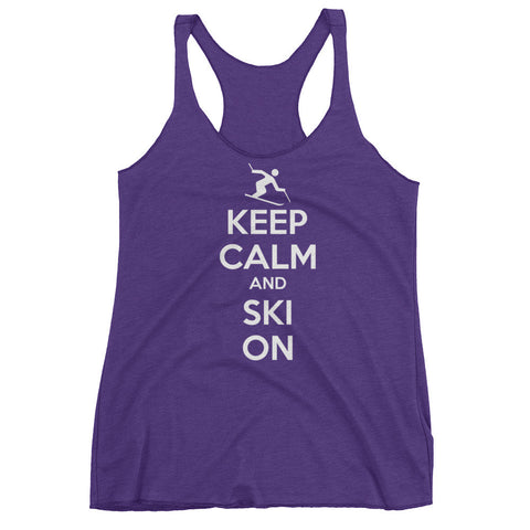 Keep Calm and Ski On - Women's tank top
