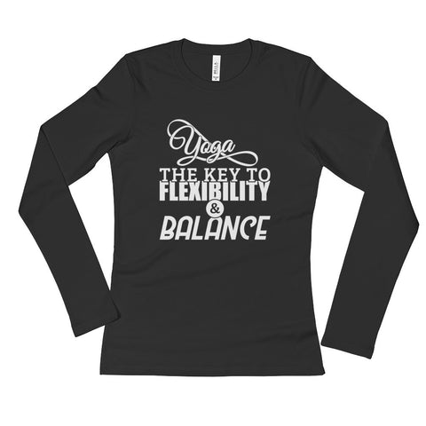 Yoga Flexibility and Balance - Ladies' Long Sleeve T-Shirt
