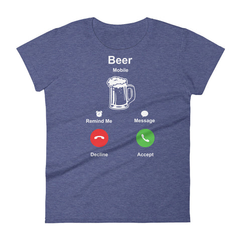 Beer Phone - Women's short sleeve t-shirt