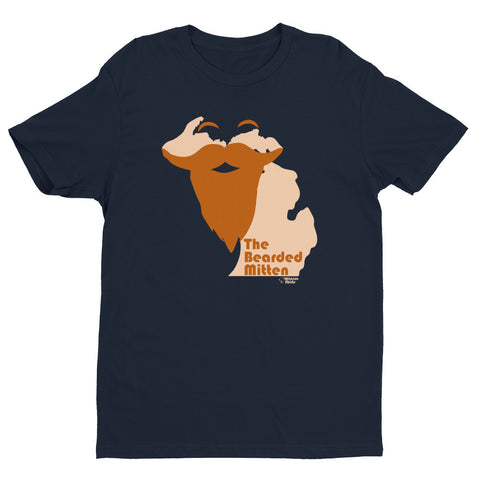 The Bearded U.P. - Short sleeve men's t-shirt