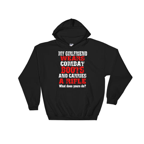 My Girlfriend Wears Combat Boots - Hooded Sweatshirt