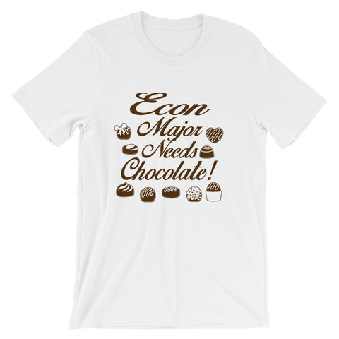 Econ Major, Need Chocolate - Short-Sleeve Unisex T-Shirt