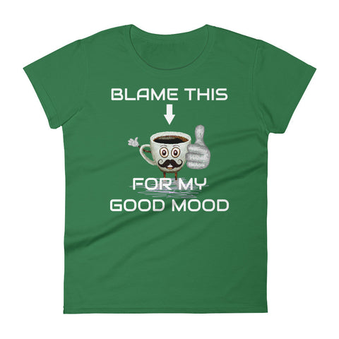 Blame the Coffee - Women's short sleeve t-shirt